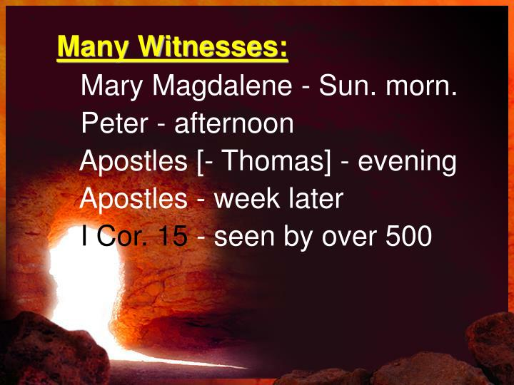 Many Witnesses: