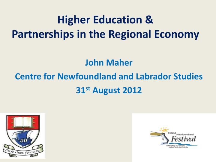 Higher education partnerships in the regional economy