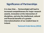 significance of partnerships