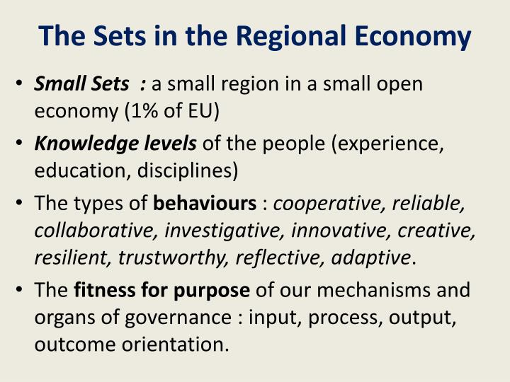 The Sets in the Regional Economy