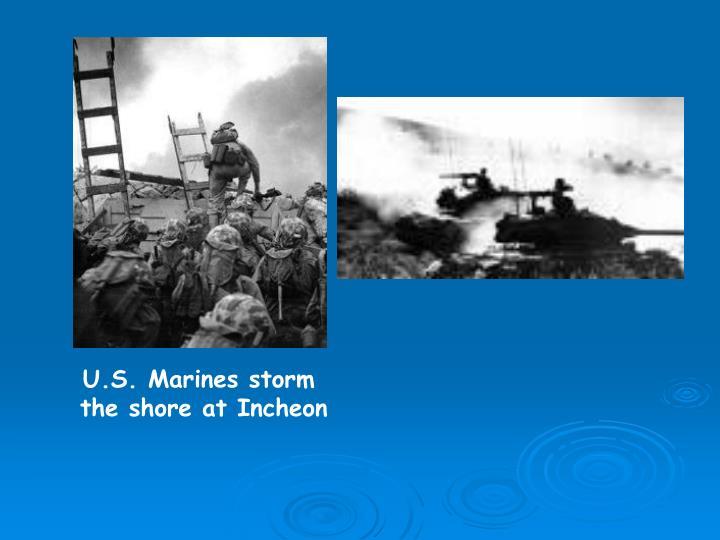 U.S. Marines storm