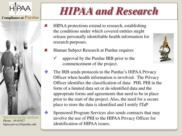 HIPAA and Research