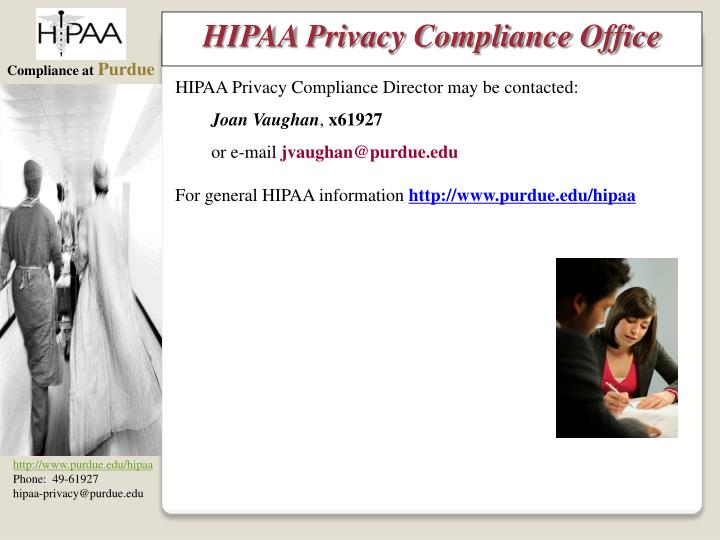 HIPAA Privacy Compliance Office