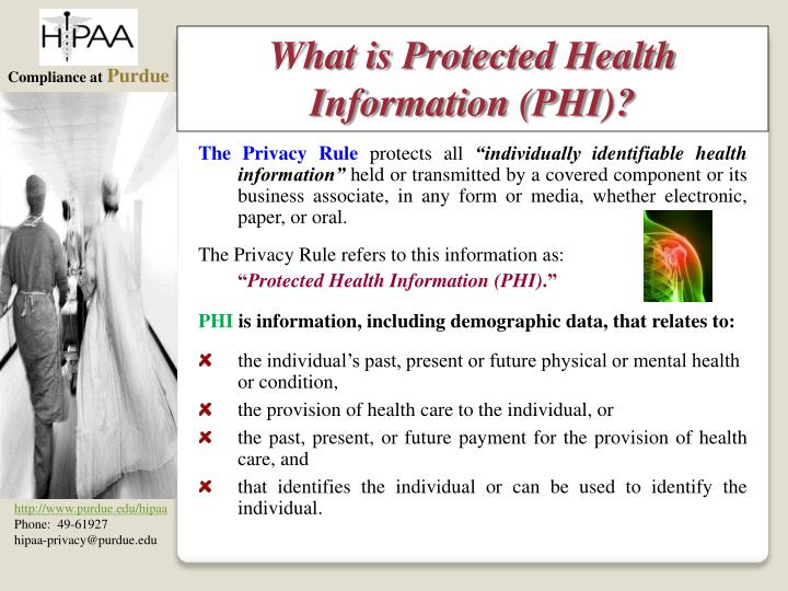 What is Protected Health Information (PHI