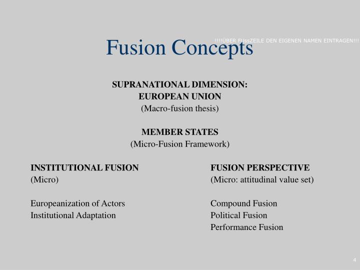 Fusion Concepts