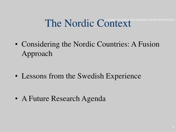 The Nordic Context