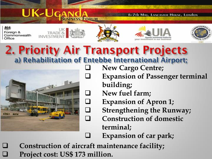 2. Priority Air Transport Projects