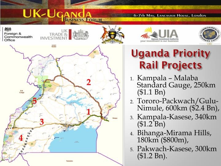 Uganda Priority Rail Projects