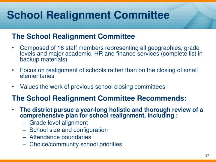 School Realignment Committee
