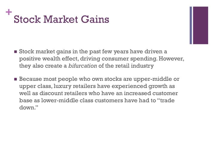 Stock Market Gains