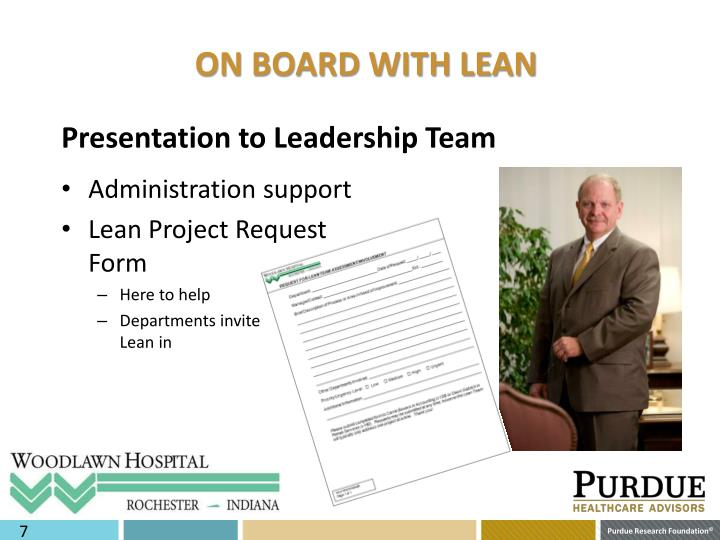 ON BOARD WITH LEAN
