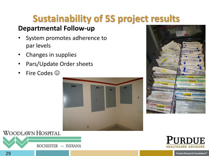 Sustainability of 5S project results