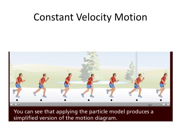 Constant Velocity Motion