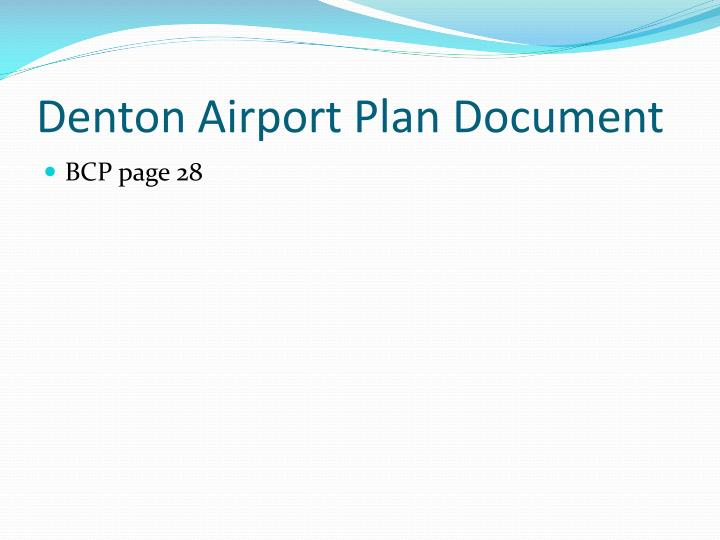 Denton Airport Plan Document