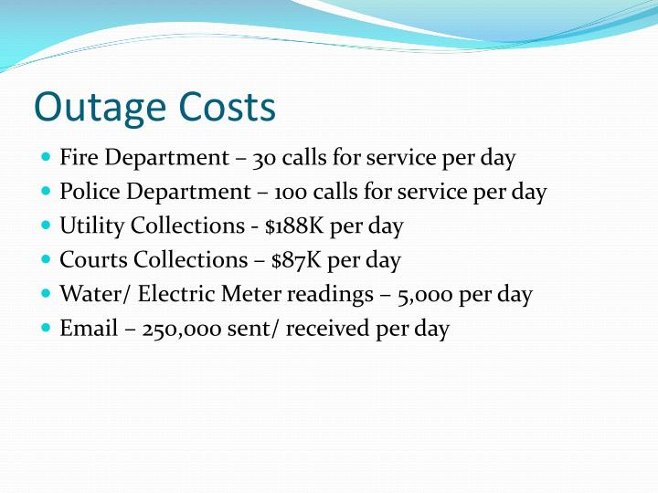 Outage Costs