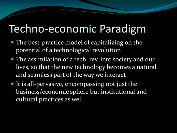 Techno-economic Paradigm