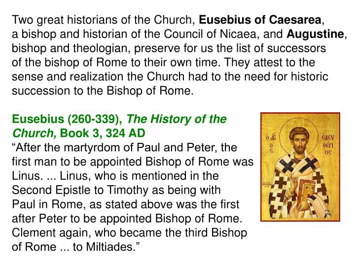Two great historians of the Church,
