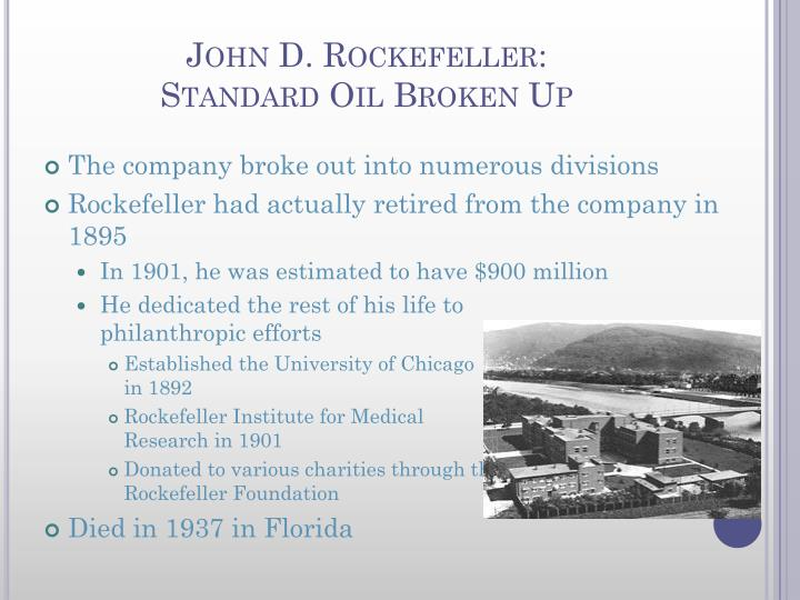 how john d rockefeller controlled the oil industry in the united states As one of the largest commercial corporations in the united states,  the  standard oil company, led by john d rockefeller, pioneered the formation of a  successful oil industry monopoly through horizontal and vertical integration  in  china and should thus have the ability to control oil rich lands there.
