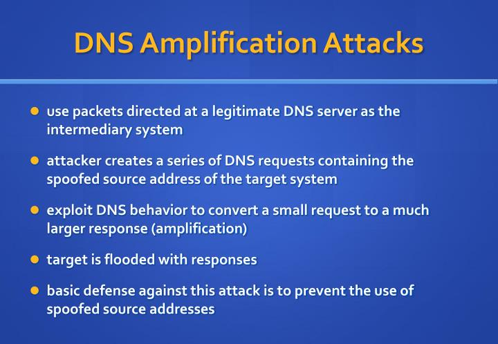 DNS Amplification Attacks
