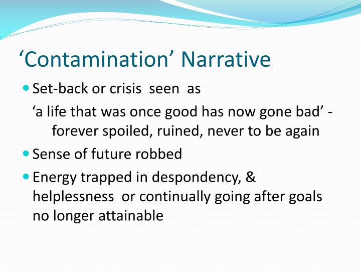 'Contamination' Narrative