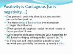 positivity is contagious so is negativity