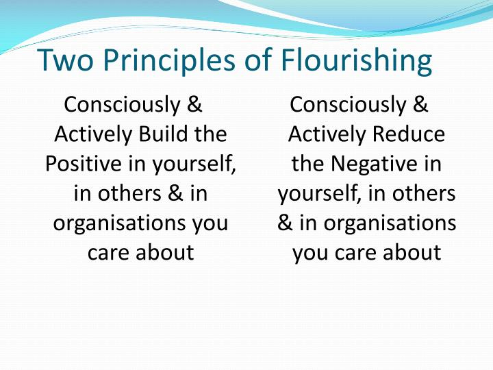 Two Principles of Flourishing