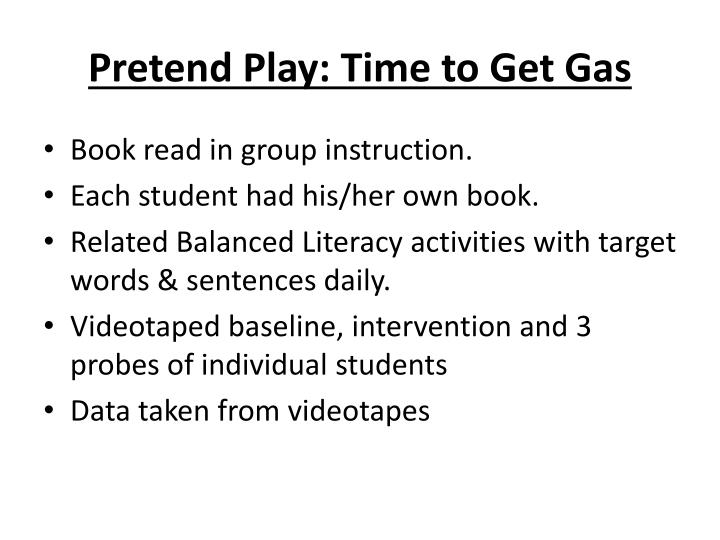 Pretend Play: Time to Get Gas