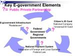key e government elements