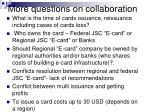 more questions on collaboration
