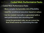 coded web performance tests