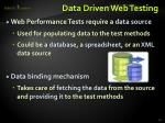 data driven web testing