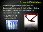 dynamic parameters