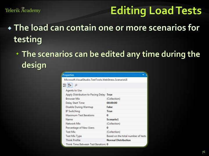 Editing Load Tests