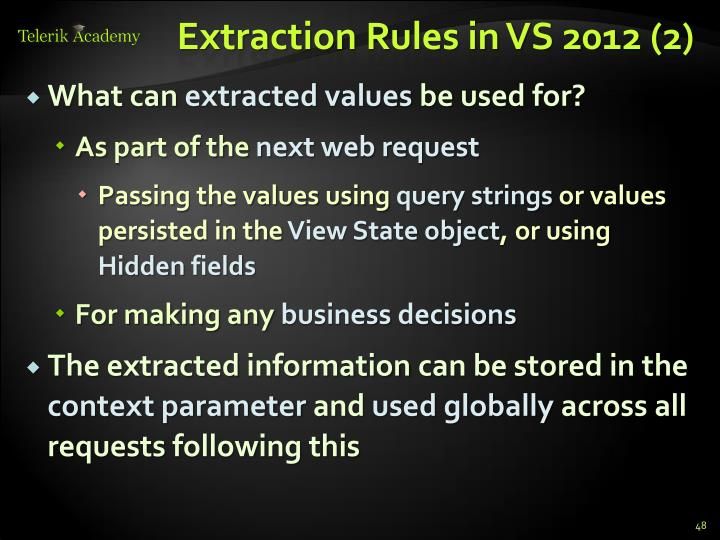Extraction Rules in VS 2012 (2)