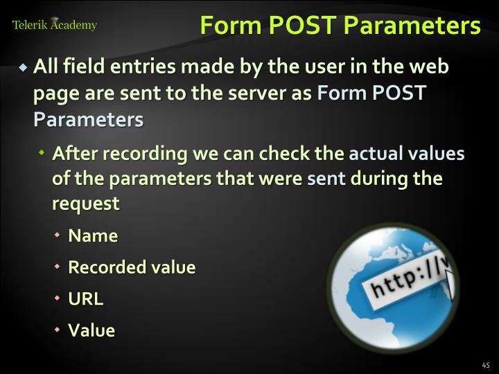 Form POST Parameters