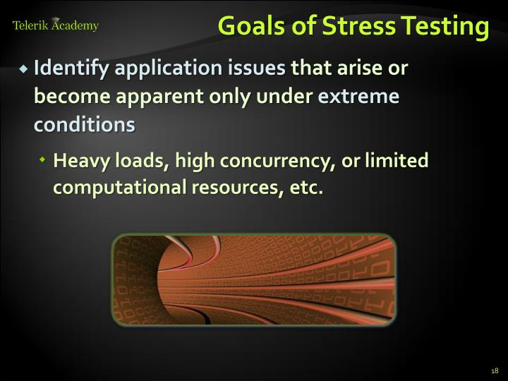 Goals of Stress Testing