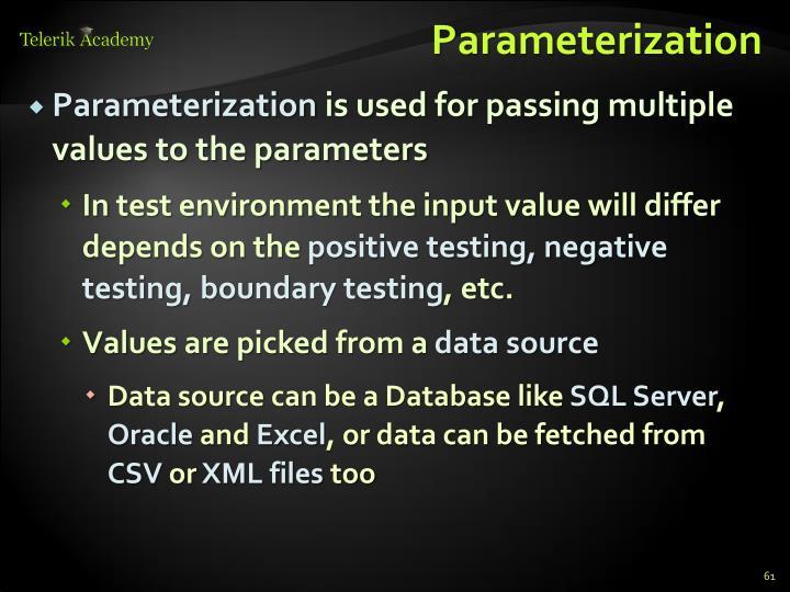 Parameterization