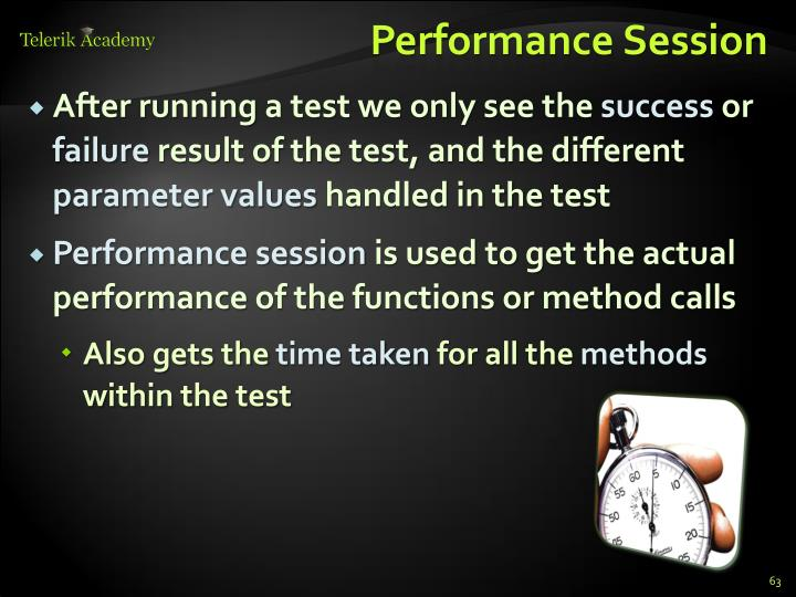 Performance Session