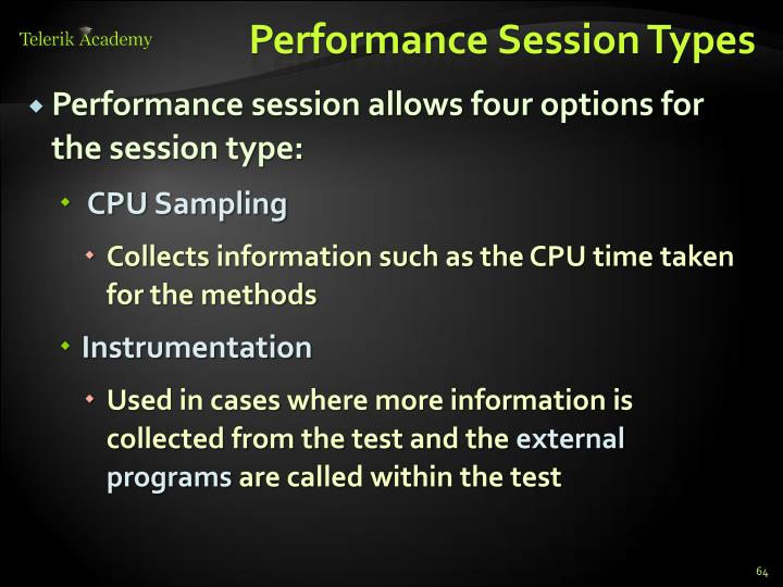 Performance Session Types