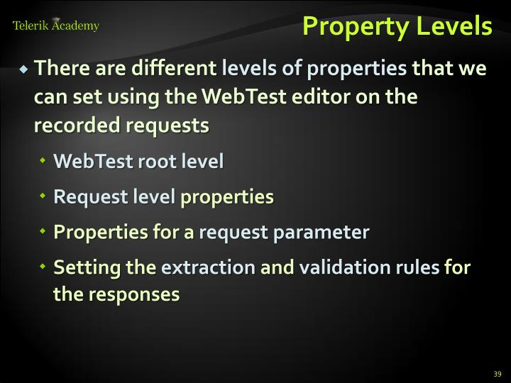 Property Levels