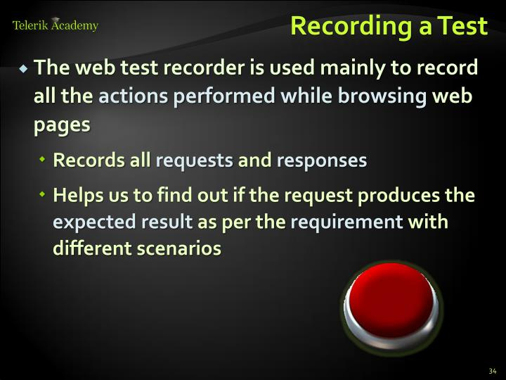 Recording a Test