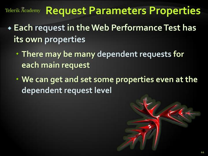 Request Parameters Properties