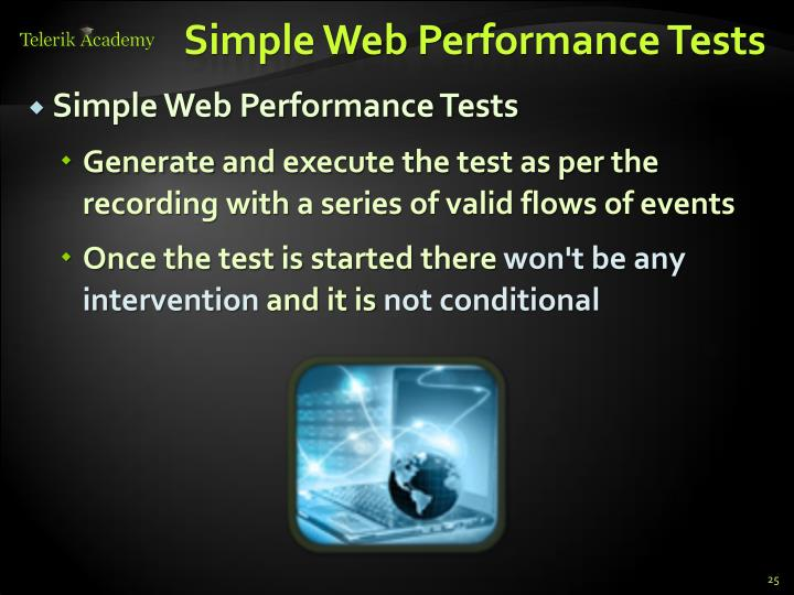 Simple Web Performance Tests