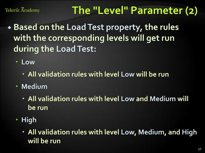 "The ""Level"""