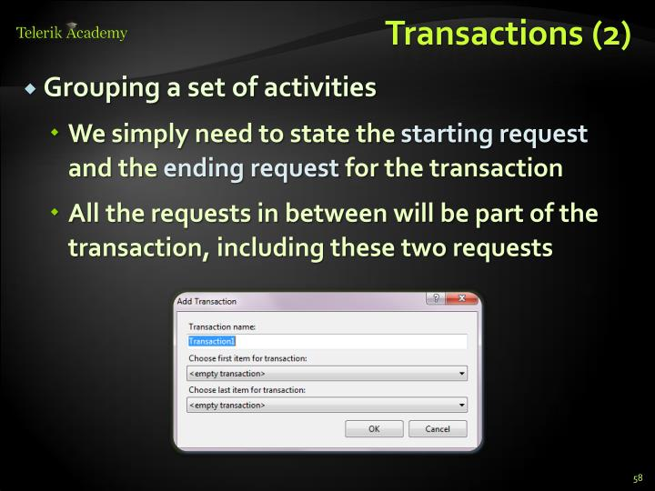 Transactions (2)