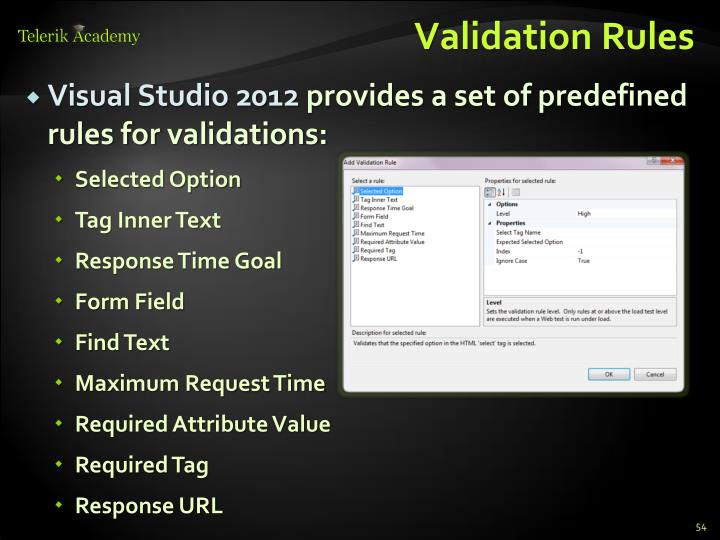 Validation Rules