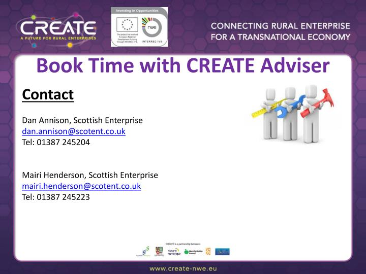Book Time with CREATE Adviser