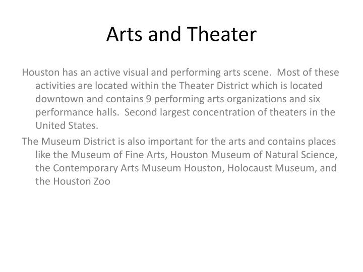 Arts and Theater