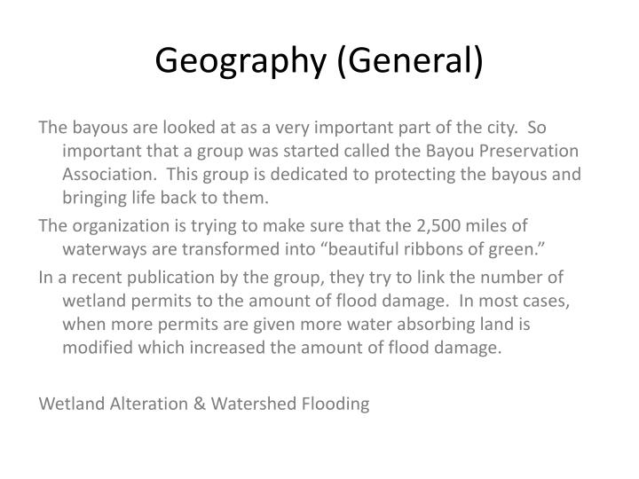 Geography (General)