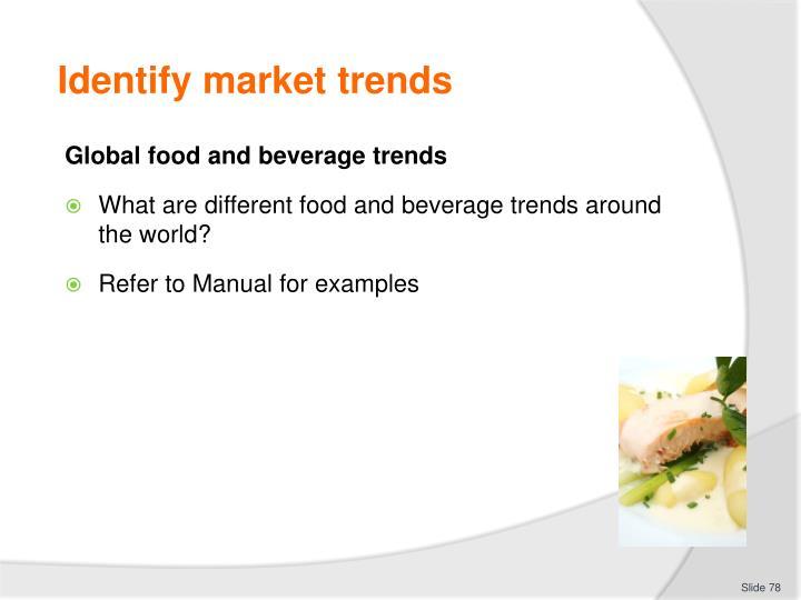 Identify market trends